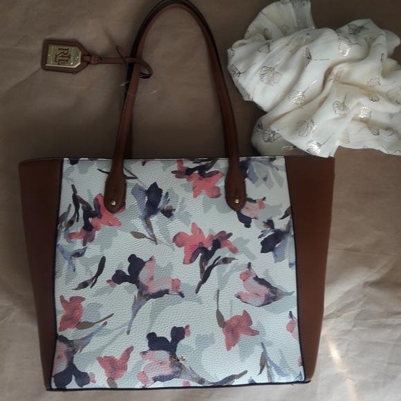 f9de6c50f633 NWT Lauren Ralph Lauren Tote Sholder Bag Purse